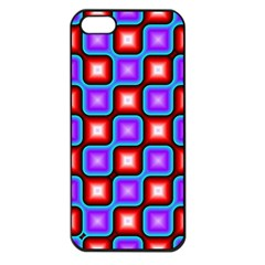 Connected squares pattern Apple iPhone 5 Seamless Case (Black)