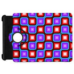 Connected squares pattern Kindle Fire HD Flip 360 Case