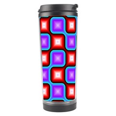 Connected squares pattern Travel Tumbler