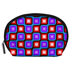 Connected squares pattern Accessory Pouch