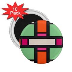 Rectangles Cross 2 25  Magnet (10 Pack)