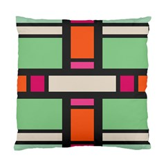 Rectangles cross Standard Cushion Case (Two Sides)