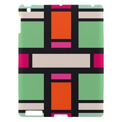Rectangles cross Apple iPad 3/4 Hardshell Case