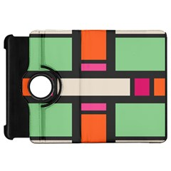 Rectangles cross Kindle Fire HD Flip 360 Case