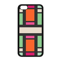 Rectangles cross Apple iPhone 5C Seamless Case (Black)