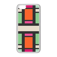 Rectangles cross Apple iPhone 5C Seamless Case (White)