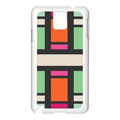 Rectangles cross Samsung Galaxy Note 3 N9005 Case (White)
