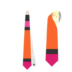 Rectangles Cross Necktie