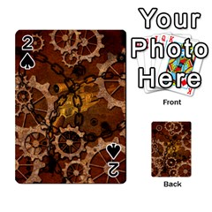 Steampunk In Rusty Metal Playing Cards 54 Designs