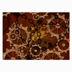 Steampunk In Rusty Metal Large Glasses Cloth (2-Side)