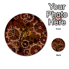 Steampunk In Rusty Metal Multi-purpose Cards (Round)