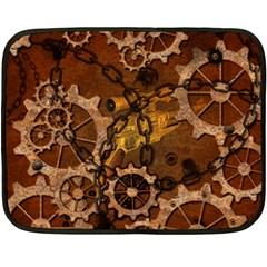 Steampunk In Rusty Metal Fleece Blanket (Mini)