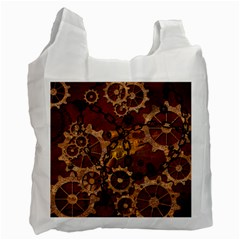 Steampunk In Rusty Metal Recycle Bag (One Side)