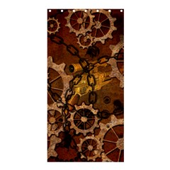 Steampunk In Rusty Metal Shower Curtain 36  X 72  (stall)