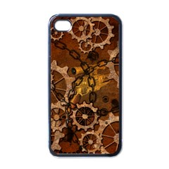 Steampunk In Rusty Metal Apple iPhone 4 Case (Black)