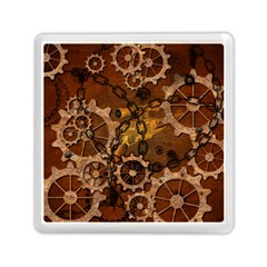 Steampunk In Rusty Metal Memory Card Reader (Square)