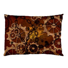 Steampunk In Rusty Metal Pillow Cases (Two Sides)