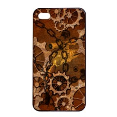 Steampunk In Rusty Metal Apple iPhone 4/4s Seamless Case (Black)