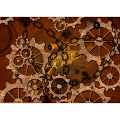 Steampunk In Rusty Metal Birthday Cake 3d Greeting Card (7x5)