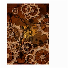 Steampunk In Rusty Metal Small Garden Flag (Two Sides)