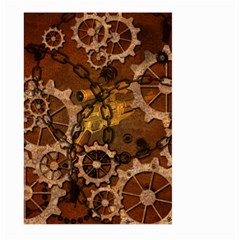 Steampunk In Rusty Metal Large Garden Flag (Two Sides)