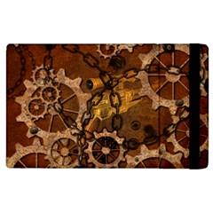 Steampunk In Rusty Metal Apple iPad 3/4 Flip Case