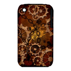 Steampunk In Rusty Metal Apple iPhone 3G/3GS Hardshell Case (PC+Silicone)