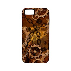 Steampunk In Rusty Metal Apple iPhone 5 Classic Hardshell Case (PC+Silicone)