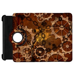 Steampunk In Rusty Metal Kindle Fire HD Flip 360 Case