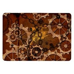 Steampunk In Rusty Metal Samsung Galaxy Tab 8.9  P7300 Flip Case