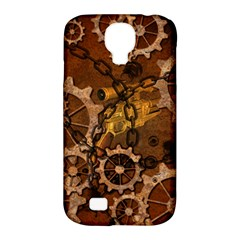 Steampunk In Rusty Metal Samsung Galaxy S4 Classic Hardshell Case (PC+Silicone)