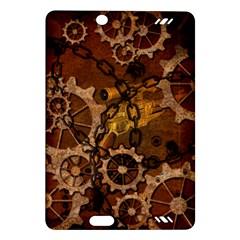 Steampunk In Rusty Metal Kindle Fire HD (2013) Hardshell Case
