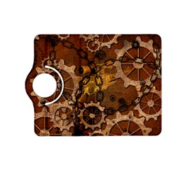 Steampunk In Rusty Metal Kindle Fire HD (2013) Flip 360 Case