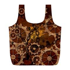 Steampunk In Rusty Metal Full Print Recycle Bags (L)