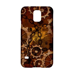 Steampunk In Rusty Metal Samsung Galaxy S5 Hardshell Case