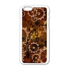 Steampunk In Rusty Metal Apple iPhone 6/6S White Enamel Case