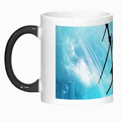 Underwater World With Shipwreck And Dolphin Morph Mugs