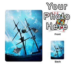Underwater World With Shipwreck And Dolphin Multi-purpose Cards (Rectangle)