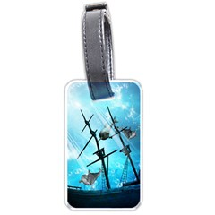 Underwater World With Shipwreck And Dolphin Luggage Tags (Two Sides)