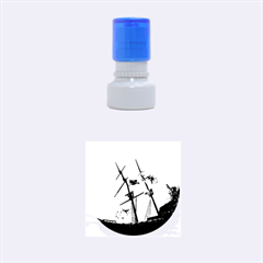 Underwater World With Shipwreck And Dolphin Rubber Round Stamps (Small)