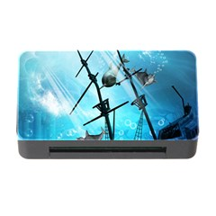 Underwater World With Shipwreck And Dolphin Memory Card Reader with CF