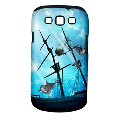Underwater World With Shipwreck And Dolphin Samsung Galaxy S III Classic Hardshell Case (PC+Silicone)