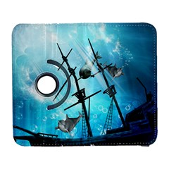 Underwater World With Shipwreck And Dolphin Samsung Galaxy S  III Flip 360 Case