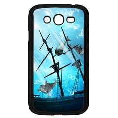 Underwater World With Shipwreck And Dolphin Samsung Galaxy Grand DUOS I9082 Case (Black)