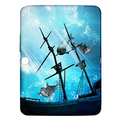 Underwater World With Shipwreck And Dolphin Samsung Galaxy Tab 3 (10.1 ) P5200 Hardshell Case