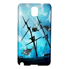 Underwater World With Shipwreck And Dolphin Samsung Galaxy Note 3 N9005 Hardshell Case