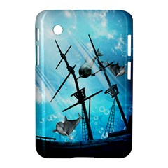 Underwater World With Shipwreck And Dolphin Samsung Galaxy Tab 2 (7 ) P3100 Hardshell Case