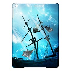 Underwater World With Shipwreck And Dolphin iPad Air Hardshell Cases