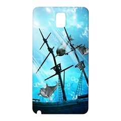 Underwater World With Shipwreck And Dolphin Samsung Galaxy Note 3 N9005 Hardshell Back Case
