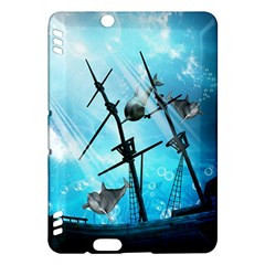 Underwater World With Shipwreck And Dolphin Kindle Fire HDX Hardshell Case